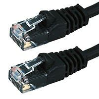 Cat5e 24AWG UTP Ethernet Network Patch Cable, 10ft Black