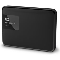 WD - WD 1TB My Passport Ultra USB 3.0 Secure Portable Hard Drive (Black)