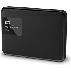 WD - WD 3TB My Passport Ultra USB 3.0 Secure Portable Hard Drive (Black)