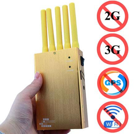 All Mobile Phone Signals Jammer 5 Bands Handheld
